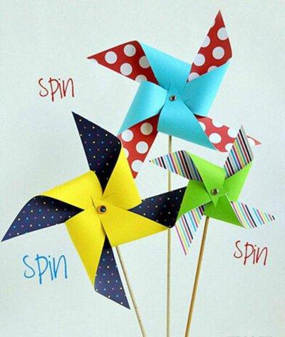 [童趣]纸风车的做法图解