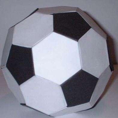 [纸艺]男娃喜爱的足球